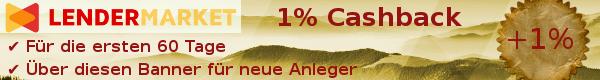 Lendermarket 1% Cashback