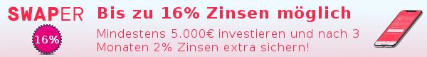 Swaper 2021 bis zu 16% Rendite