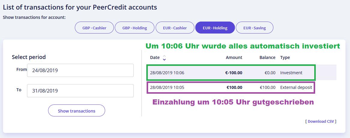 peercredit-einzahlung